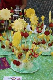Fruit flower centerpieces