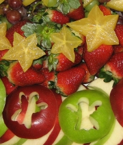 Angel apples with starfruit and berries