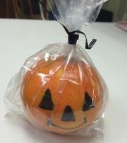 Clementine jack o lantern