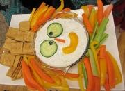 Scarecrow veg tray
